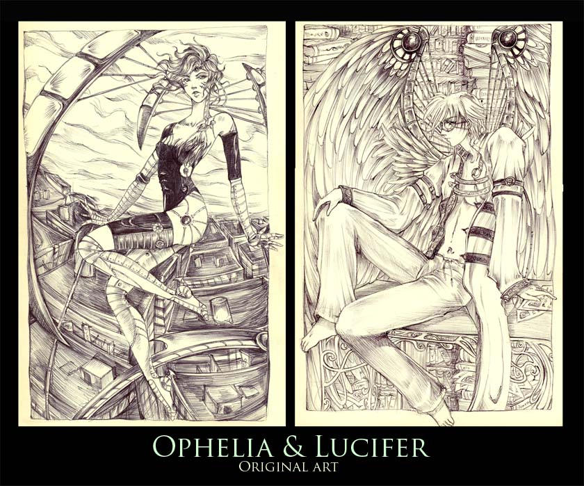 Ophelia and Lucifer -original by erisdoll