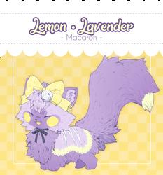 [CLOSED] Soosh Auction - Lemon-Lavender Macaron by Chital