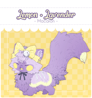 [CLOSED] Soosh Auction - Lemon-Lavender Macaron