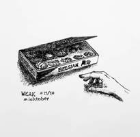 Inktober2018 15/10 Weak by GentianaVerna