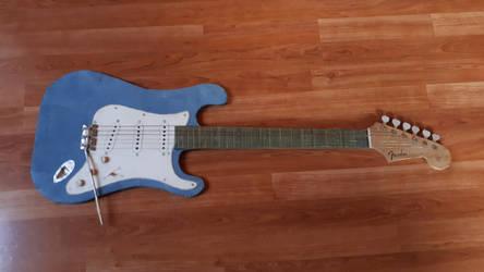 Sonic Blue - Fender Guitar Paper Model