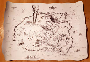 Treasure Island Map (Family Scouting camp 2019)