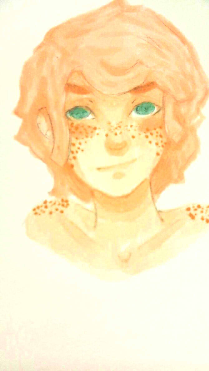 My freckled bby by oO0RyuuHeartsYou0Oo