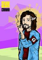 Syk Panikk - Jesus smoking by JovDaRipper
