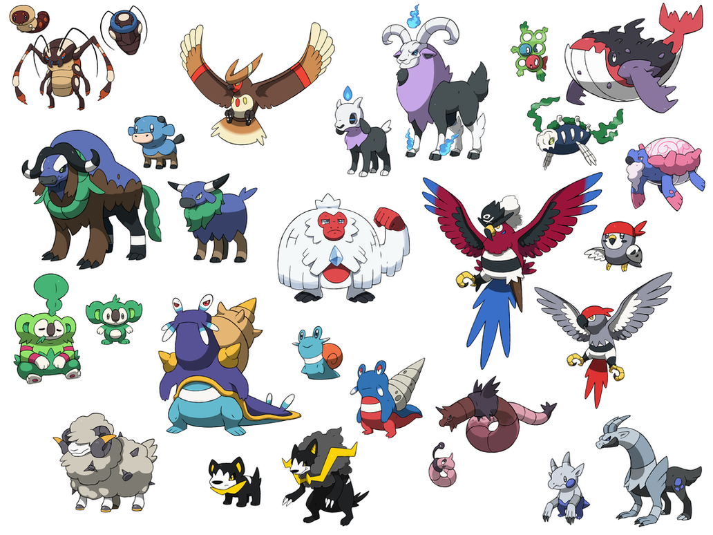 Fakemon Comp By Sircaterpie On Deviantart