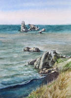 Sea and rocks by pranDIV