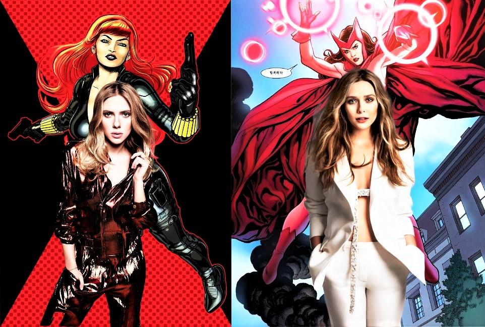 Scarlet Widow/Scarlett Johansson x Elizabeth Olsen by TristanHartup
