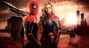 Spider-Man and Captain Marvel