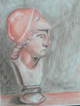 De Chirico Conte Crayon Athena