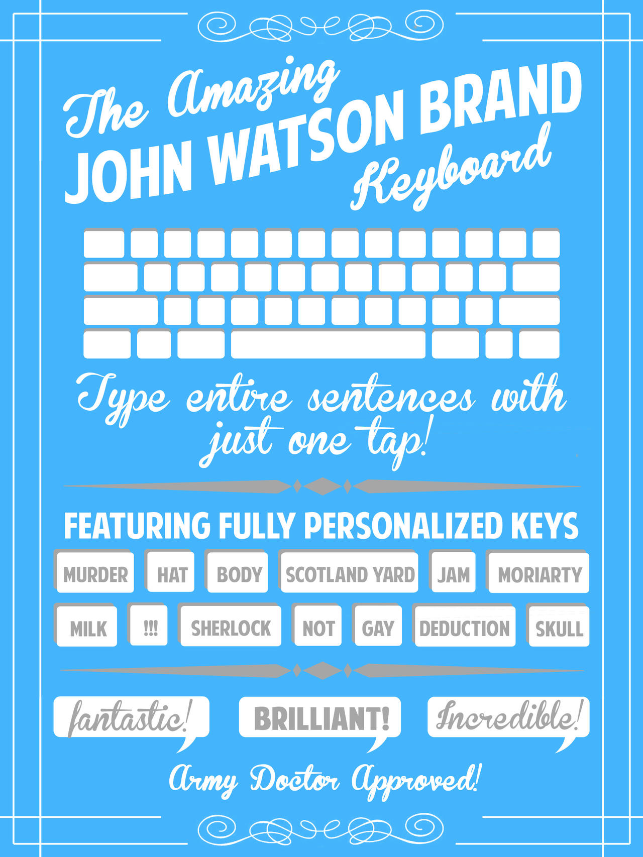 The Amazing John Watson Brand Keyboard by aidanabet