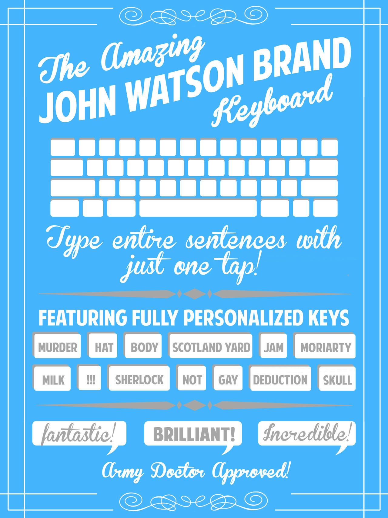 The Amazing John Watson Brand Keyboard by aidanabet