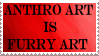 Anthro Art Is Furry Art Stamp by DraconSage