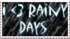 Rainy Days Stamp by DraconSage