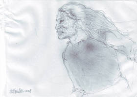 Pencil sketch, the hound