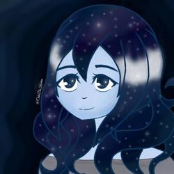 Galaxy hair by CakeDaKuchen
