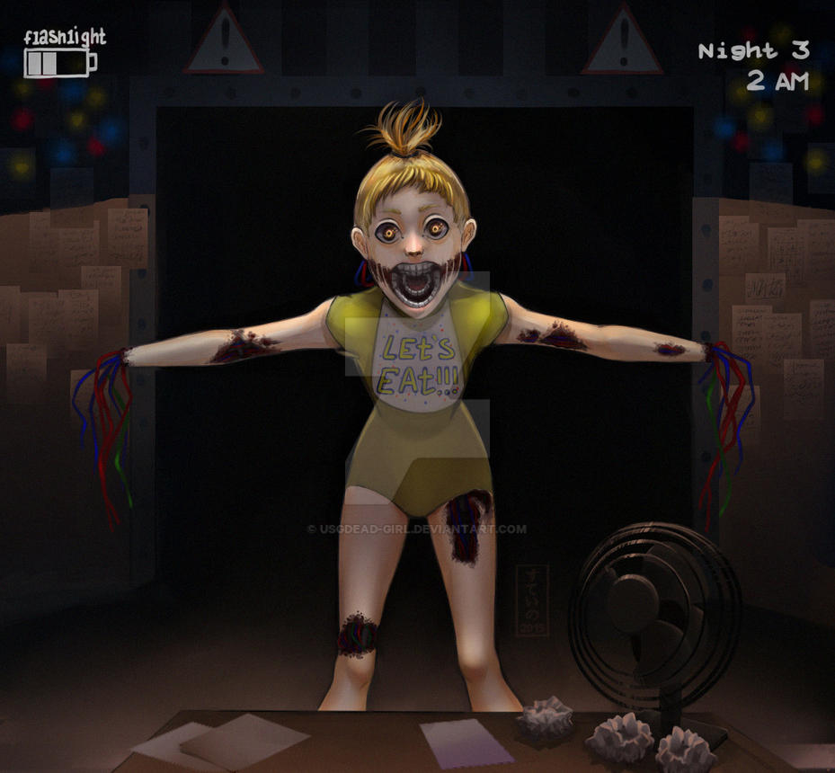 Chica five nights at freddy s by usgdead girl on deviantart