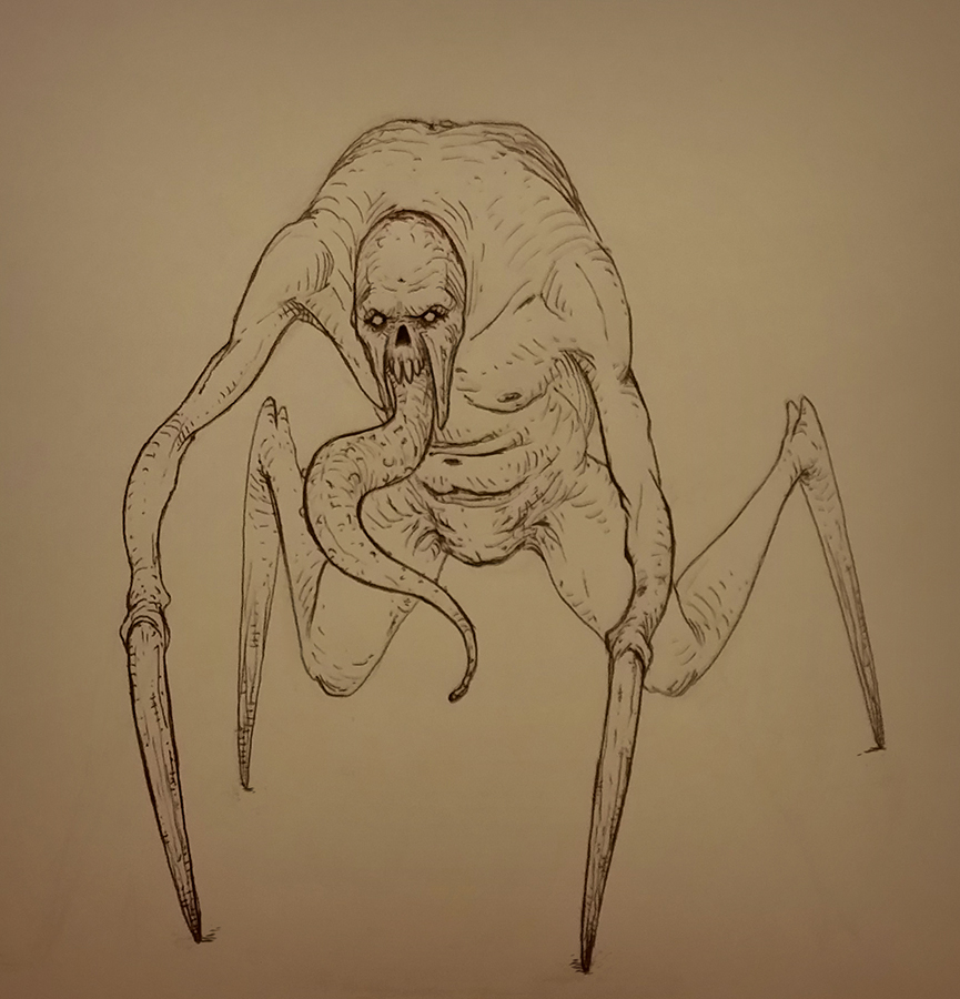 ballpen sketch by PaulDarkdraft