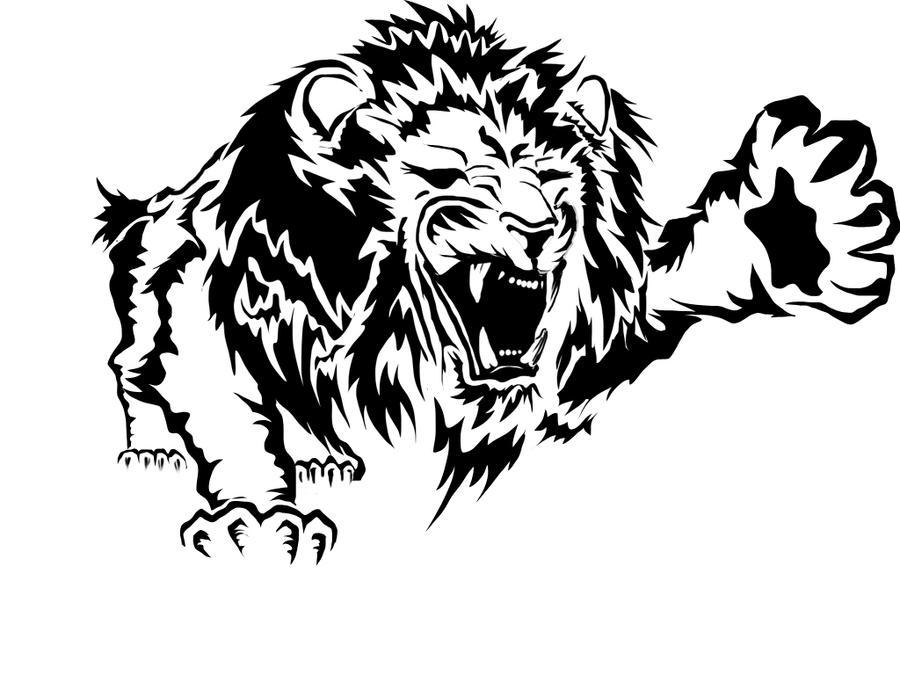 Line Art Lion : Lion attack by hulkz on deviantart