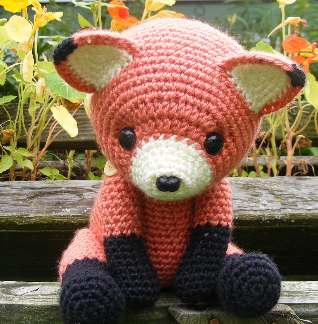 Cinnabar the Fox Amigurumi by Crowchet