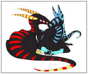 [C] Cuddly Dragons by IceStarDragonHC