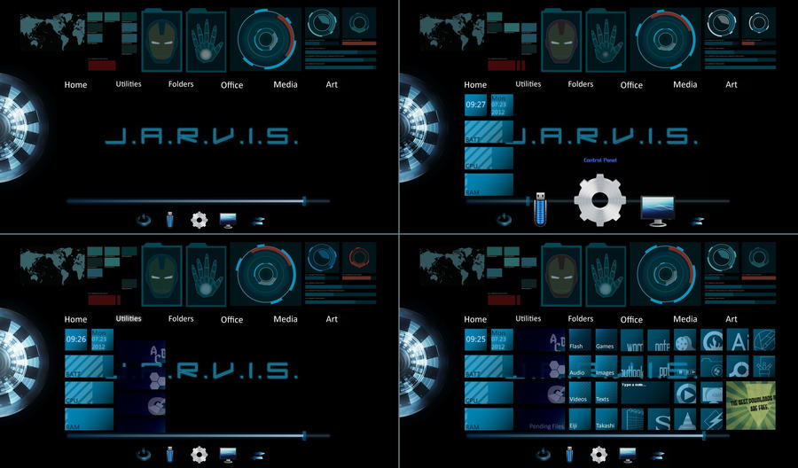 J.A.R.V.I.S Theme For Windows 7