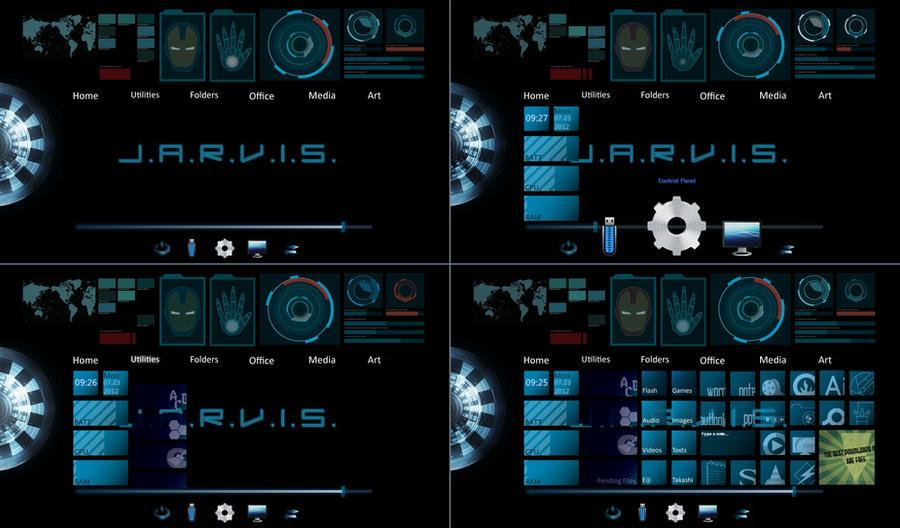 desktop screenshot - jarvis theme by iAmAneleBiscarra