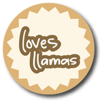 profile stickers - loves llamas pastel brown by iAmAneleBiscarra