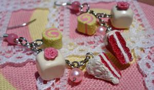 Red Velvet and Creme Earrings