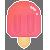 Pink Pixelart Popsicle Icon by VapidRose