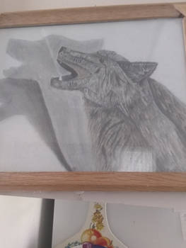 Shadow puppet wolf