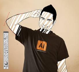 Ai CS5 Shirt by Santi90