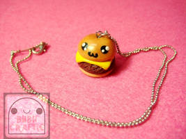 Cute Cheeseburger Necklace by efeeha