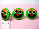 Oscar the Grouch Adjustable Rings by efeeha