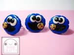 Cookie Monster Adjustable Rings by efeeha