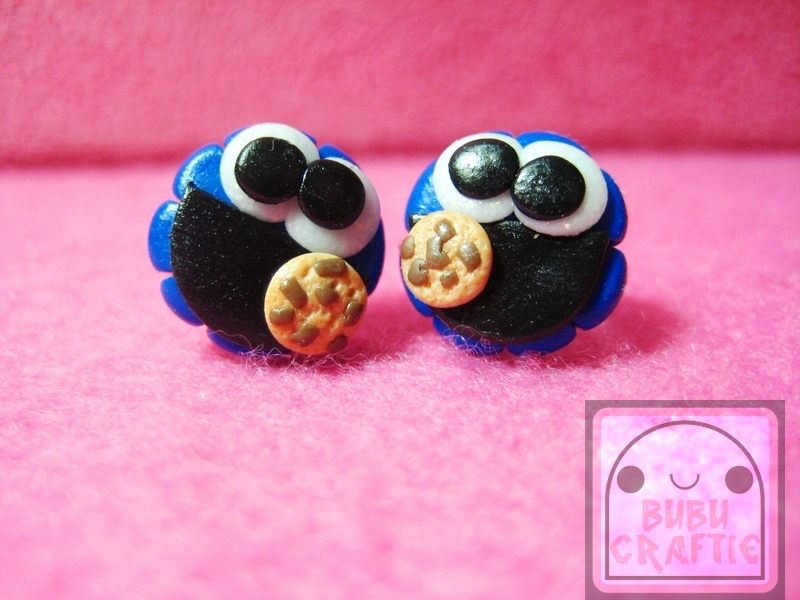 Cookie Monster Studs by efeeha