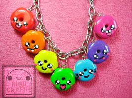 Rainbow Donuts Bracelet 2 by efeeha