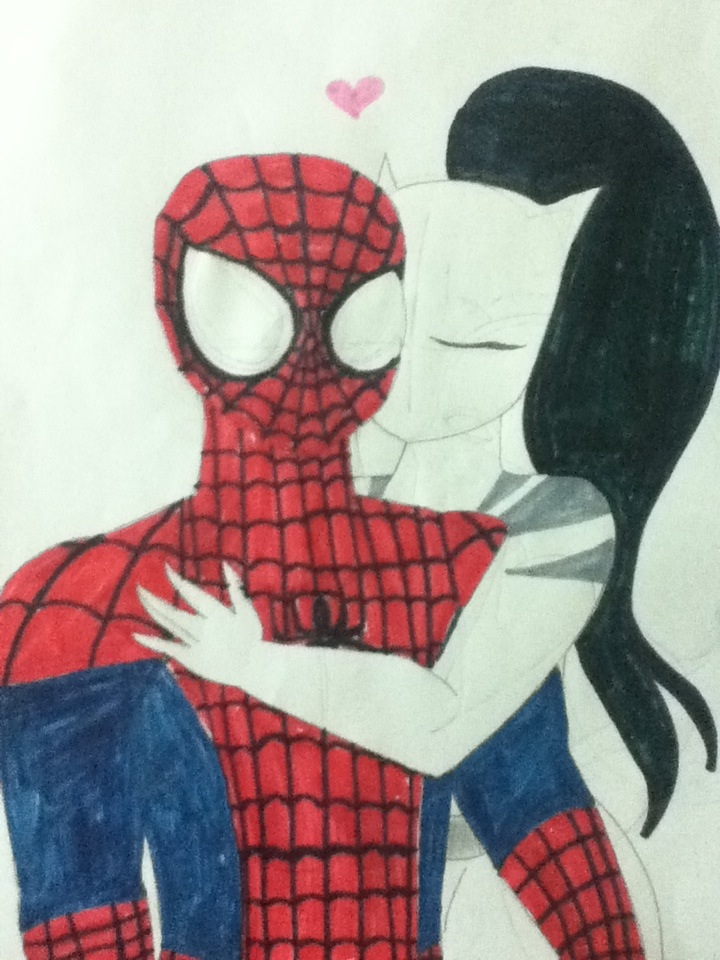 Ultimate spiderman white tiger and spiderman kiss - photo#1