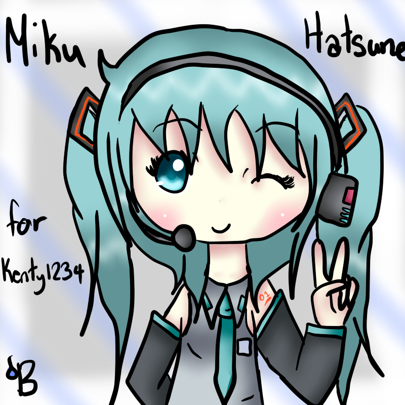 mikus peace sign by waterblizzard on deviantart