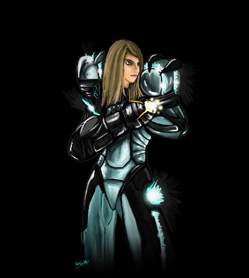 Samus Aran Tron... Samus Light Suit Cosplay