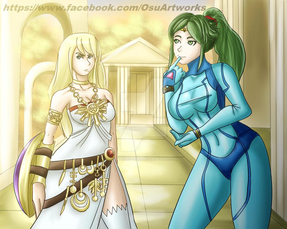 Samus and palunetana changes of clothing by osukaru-kun