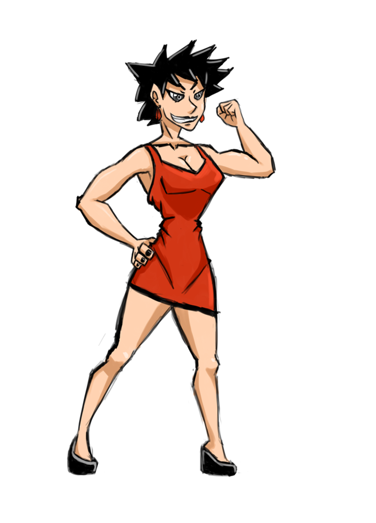 Sorta kinda random...female Ash Ketchum? by Vazazell
