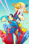 SUPERMAN and POWERGIRL