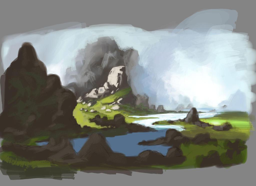 Landscape Speedpaint Practice by GrubLord
