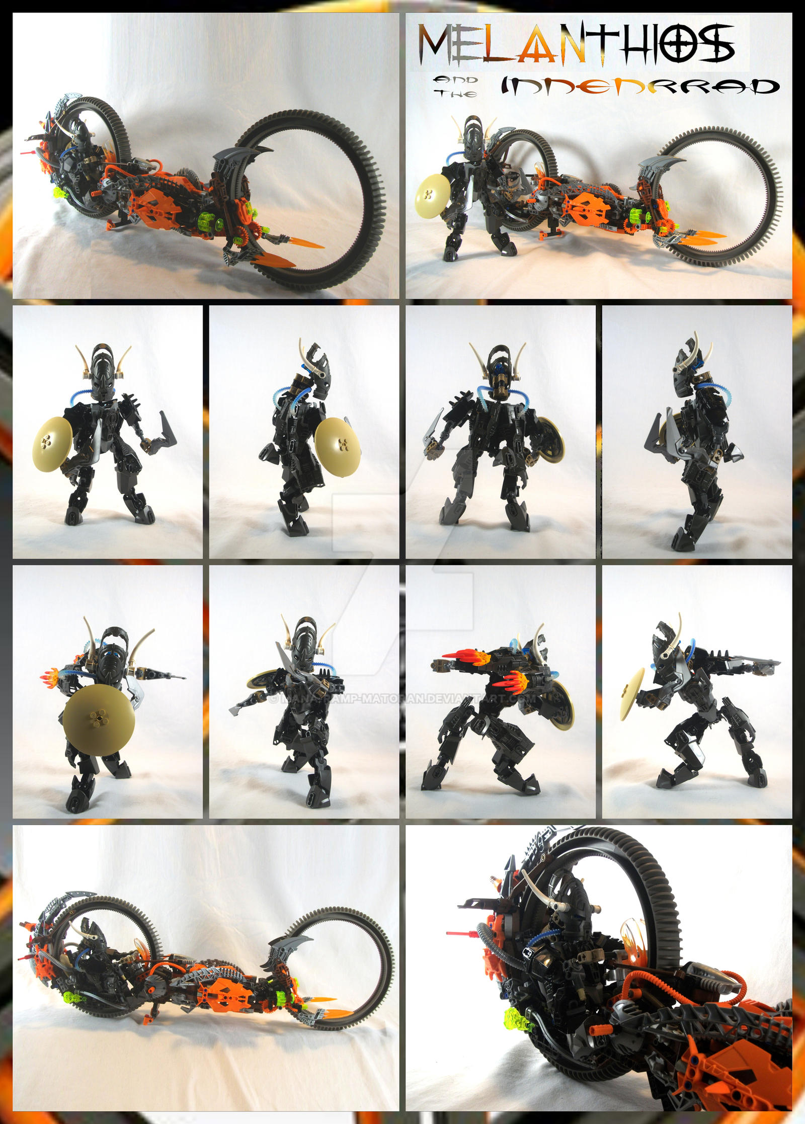 Bionicle MOC: Melanthios 2.0 and Innenrrad by 3rdeye88