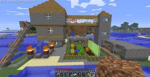 Minecraft house. by Mana-Ramp-Matoran