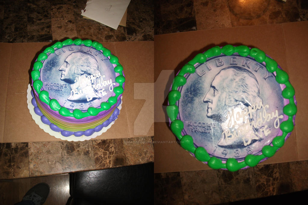Quarter Birthday Cake