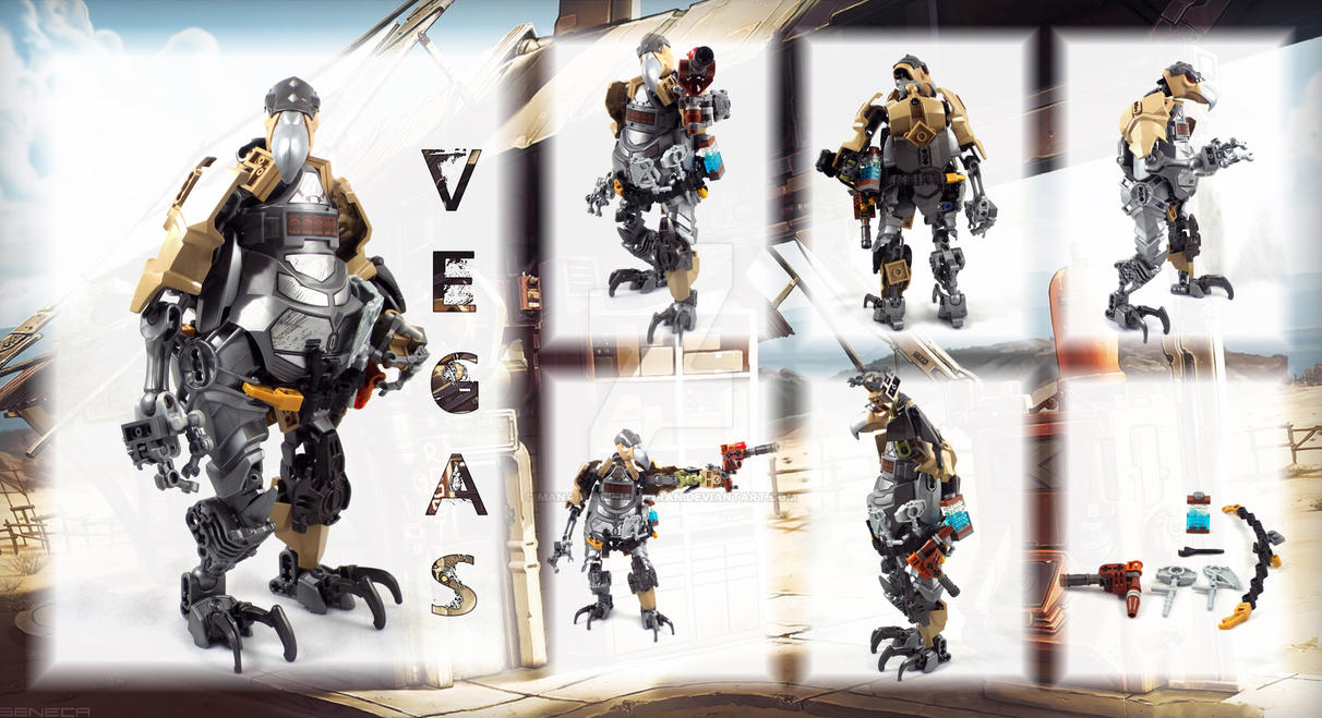 Bionicle MOC: Vegas the Grizzled Veteran by Mana-Ramp-Matoran