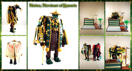 Bionicle MOC: Matteo, Merchant of Lemuria by Mana-Ramp-Matoran