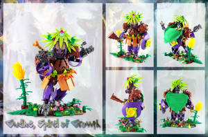 Bionicle MOC: Gudina, The Spiral of Growth. by Mana-Ramp-Matoran