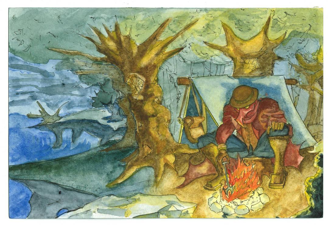 Watercolor Painting by ElmerLobo by Mana-Ramp-Matoran